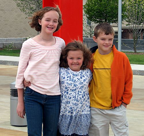 Kids in Front of Museum