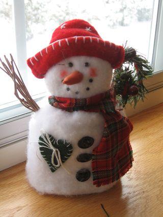 Snowman in Window