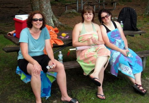 Maria, Beccah, & Nicole at Kayaking