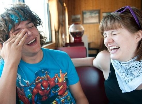 Barty and Beccah Laughing
