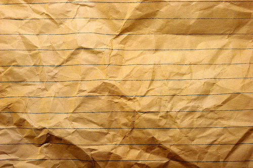 Wrinkled Notebook Paper by Grunge Textures